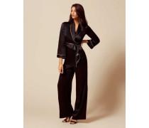 Classic Pyjama Bottom In Black Silk