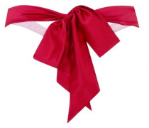 Brielle Thong In Pink With Red Satin Bow