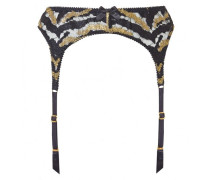Genevieve Suspender In Black And Gold