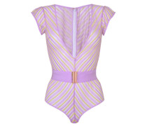 Pettra Body In Lilac And Lime Stripes