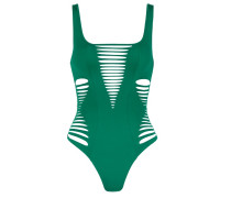 Dakotta Swimsuit In Emerald Green With Plunge Neckline