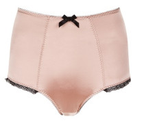 Felinda Brief In Nude With Black Lace Trim