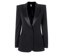 Teo Jacket In Black Wool With Silk Lining