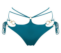Davine Bikini Bottom In Green With Gold Rings