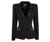 Billy Blazer Jacket Tailored In Black Silk