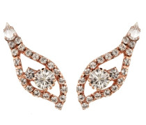 Candella Crystal Earrings In Rose Gold