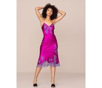 Elizabelle Long Slip In Pink Silk