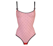 Poppie Body In Red With Black Embroidered Spots