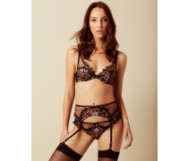 Carli Suspender With Black And Rose Gold Embroidery