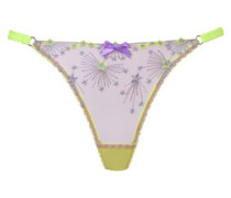 Kaylie Thong In Yellow Tulle With Firework Embroidery