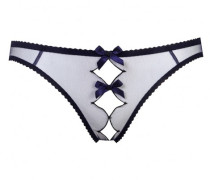 Crotchless Knickers Lorna Ouvert In Navy And Black