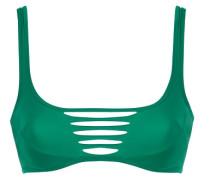Dakotta Bikini Cage Top In Emerald Green; Dakotta Bikini Top In Emerald Green