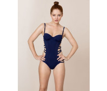 Montana Swimsuit In Navy With Cutaway Effect