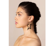 Stelline Earrings In Black And Gold