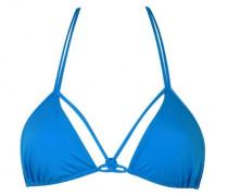 Tifanie Triangle Bikini Top Blue