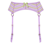 Pettra Suspender In Lilac And Lime Stripes