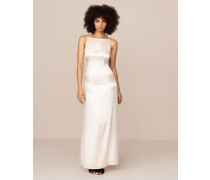 Classic Long Slip In Ivory Stretch Satin