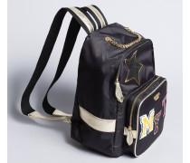 Rucksack aus Nylon mit Aufnähern