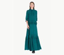 Langes Kleid mit Tupfen
