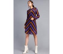 Kleid aus Georgette mit Streifen
