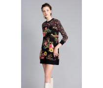 Kleid aus Wolle mit Printmix