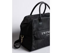 Handtasche aus Nylon mit Logo
