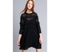 Plissiertes Georgette-Kleid