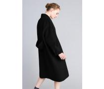 Langer Mantel Aus Doppellagigem Tuch