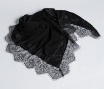 Schal aus Kaschmirmischung und Spitze