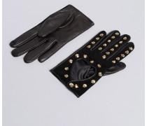 Handschuhe aus Veloursleder und Leder