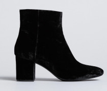 Ankle-Boot aus Samt