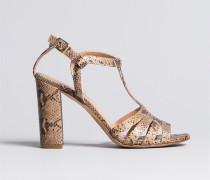 Sandalette aus Animalierleder
