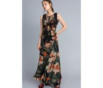 Langes Kleid aus Chiffon mit Blumenprint