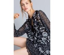 Kleid aus Georgette mit Blumenprint