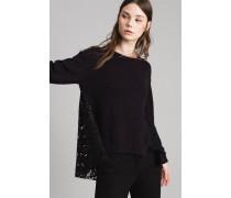 Pullover aus Baumwollstrick und Spitze