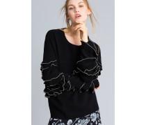 Pullover Mit Rüschen Und Metallperlen