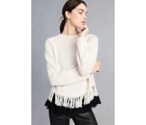 Pullover aus Wolle und Kaschmir mit Top