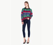 Oversize-Pullover aus Jacquard