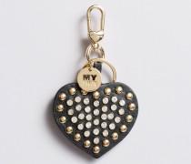 Schlüsselanhänger in Herzform mit Nieten