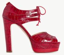 Twinset Sandalette mit Krokoprägung