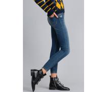 Super-Skinny-Jeans mit Strassherz