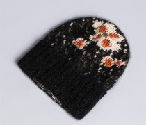 Mütze aus Mohair in Jacquardverarbeitung
