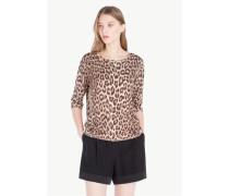 Pullover Mit Animalier-Print