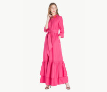 Langes Kleid Aus Popeline