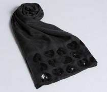 Schal mit Paillettenherzen