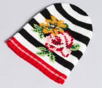 Mütze aus Jacquard-Strick mit Streifen