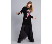 Kleid aus Wollmischung mit Stickerei