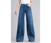 Wide-Leg-Jeans aus Denim