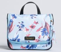 Kulturtasche mit Blumenprint