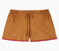 Shorts In Wildlederoptik